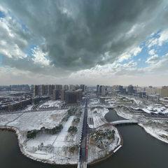 嘉定远香湖雪景(2018年1月)